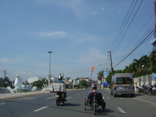 The two teacups on the left as we entered Bảo Lộc