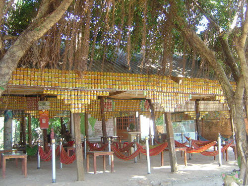 The cafe made of cans