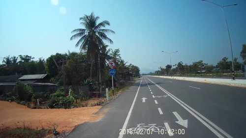 We very rarely see these cycling paths