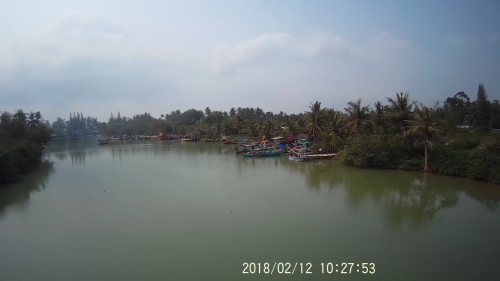 Big river with boats